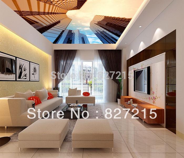 Потолочная плитка DELAI SV/2533 /Function  SV-2533 Skyscraper Printed Wall Decoration цены онлайн