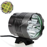 5T6 bicycle Light  5xCree XM-L T6 LED 3 Modes 5LED Bicycle Light ( Include 4*18650 Battery Pack)