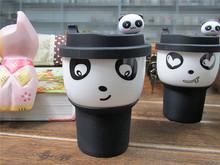 320ml Personality Cute Panda Ceramic Cup Coffee Porcelain Bone China Heat-insulated Mug With Lid 5 Styl