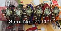 Genuine leather watch trend women's bracelet watch female genuine leather fashion bracelet fashion table vintage table