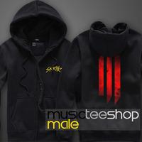 Autumn and winter thickening cardigan sweatshirt male ultralarge Women dubstep skrillex logo