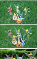 Wholesale High Quality 102pcs(6pcs/set) PVC Tinkerbell Nymph Adorable tinker bell Figures