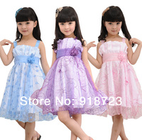 children girls princess dress 2014 summer spaghetti strap vest one-piece dress tulle dress costume