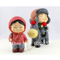 Northeast young couple riding a donkey lovers practical wedding gift piggy bank ornaments