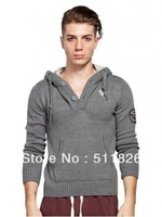 Comfortable elastic casual long-sleeved hooded sweater pocket free shipping M11WSG003