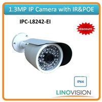 Freeshipping Linovision 1.3megapixel resolution IR IP camera support POE
