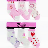 2014 Animal Meias Infantil Menina Socks Shipping Retail 0 -3years Cotton Baby Socks Girl Sock Infant 6pair/lot Girl's Gift