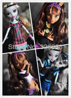 New fashion 4pcs/lot Genuine The Monster High Clothing Dress 8-styles Clothes For Original Monster High Dolls