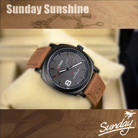 Curren Scrub cow leather strap watch fashion men military masculino analog watches outdoor fun & sports relogio feminino 2013