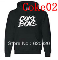 Wholesale - Cokeboys Hoodies and Sweatshirts cotton Black logo long sleeve with hats for men hoodies Mens Hoodies & Sweatshirts