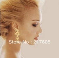Beautiful crystal earrings Dangle Earrings fashion jewelry  flower earrings