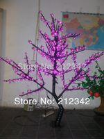Artificial LED Cherry Blossom Tree Light Landscape Lighting Outdoor Christmas Light 1.5m/5ft Height 480pcs LEDs Purple Free Ship