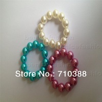 3 colors pearl beads chunky bubblegum new 1set children gift chtistmas style free shipment