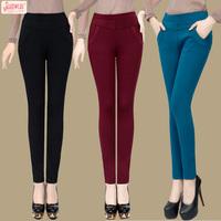 Showcai 2013 plus velvet thickening rayon female casual pants legging pencil pants