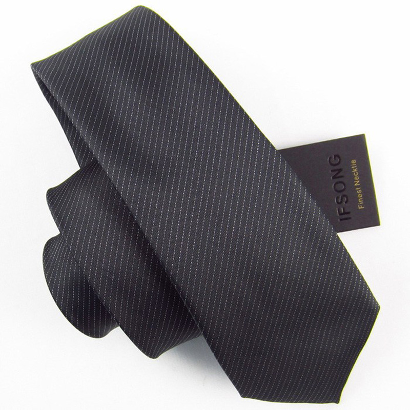Free Delivery New Fashion 7cm slim tie brand silveryarn black Men tie casual stripe Ties For Men 308 Men's Brand Necktie(China (Mainland))