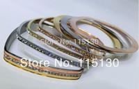 2014 New Statement 18K Gold Stainless Steel Bracelets Set Women Rose Gold Czech Crystal Bracelets&Bangles Fashion Jewelry Set