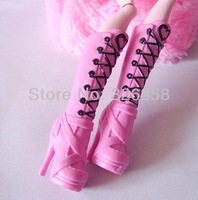 2014 Original Monster High Shoes/ Genuine Monster High Dolls Accessories /Draculaura Pink Boots+free shipping