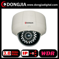 DONGJIA DA-IP9116TDW  2.8-12mm varifocal lens vandalproof dome 3.0 megapixel WDR IP Camera