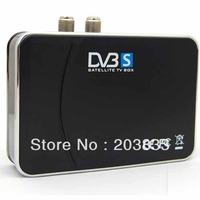 DVB-S USB 2.0 MCPC/SCPC Digital Satellite TV Tuner Box EPG Recording HDTV Box For PC Notebook