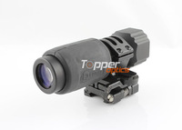 Airsoft Aimpoint Mag3x Style 4x 32mm Magnified Optical Scope Sight Magnifier w/ Twist Mount Fit with 551,552 Red Dot, Mag 4x32B2