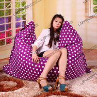 FREE SHIPPING 140*180CM red color white dot bean bags for sale 100% cotton living room bean bags large bean bag chair
