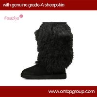 fox fur snow boots for women