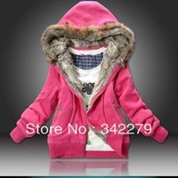 Slim belt caps casual wadded jacket cotton-padded jacket thermal thickening sweatshirt outerwear female cardigan