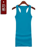 Long design vest 100% cotton slim hip sleeveless basic vest female spaghetti strap basic top spaghetti strap small vest