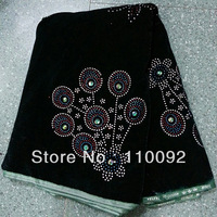 beautiful design green color  Velvet  Lace Fabric, high-grade product Embroidery Velvet Lace for party dress VLF9-7