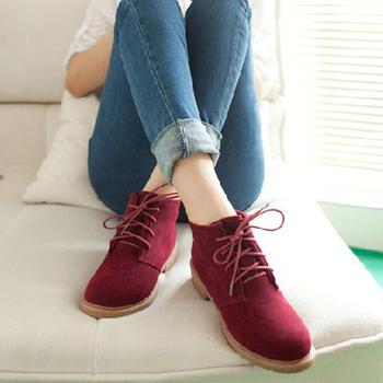 осень-зима дамы старинные повседневная обувь моды для женщин, ботинки плоским пятки ...