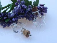 5pcs 40X32MM medium star with corks,wishing bottle,Fairy Dust Bottles,glass vial bottle pendant,essential oil vials,DIY Bottles