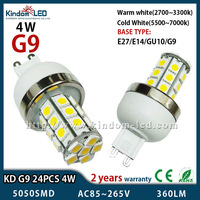 2013 NEW high power G9 4W 24pcs 5050SMD led lamp