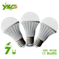 Free shipping wholesale 3pcs/lot 630lm 7W e27 led bulb 220V Plastic body lamp shade material