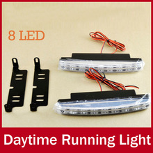 2 X 16cm 8 LED Universal Fit Car Daytime Running Light DRL Bar Head Lamp for Ford Focus Hyundai Mazda BMW Super White 12V(China (Mainland))