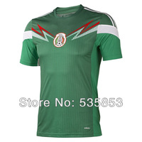 Free shipping! 2014 Brazil world cup Mexico player version home soccer jersey Thailand quality soccer jersey football shirts