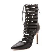 Туфли на высоком каблуке 2014 Pigalle Spikes Green Leather Wedding Shoes 120mm Red Bottom High Heels Pumps Women