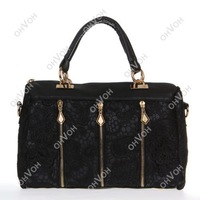2014 Fashion New Women PU Leather Messenger Bag Tote Shoulder Bag Lace Handbag