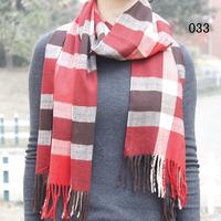 Plaid scarves Korean winter long warm scarf knitted cashmere scarf shawl women thick Lattice Scarf 175*32cm,2 cartridge