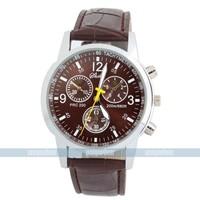 New Classic Elegant PU Leather Band Analogue Wrist quartz watch xmas gift for free shipping