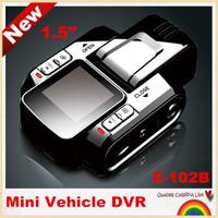 """Free shipping!E-102B  Novatek Mini 1.5"""" Car DVR recorder HD 1980*1080P car camera 120 degree Wide Angle night vision,G-sensor"""
