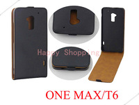 High Quality Leather Flip Skin Case Cover For HTC One Max T6 Free shipping DHL UPS HKPAM
