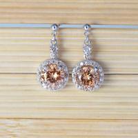 Hot Selling cz Dangle Drop Earrings 18K White Gold Plated Brincos Earring Long Crystal Party Earrings Jewelr E1404-2