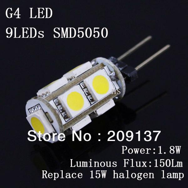 Светодиодная лампа OEM 1,8 SMD5050 9LEDs DC12V G4 360deg