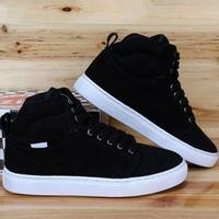 2014 Winter men shoes  cotton-padded shoes elevator shoes fashion casual shoes, skateboard shoes matte leather men's shoes