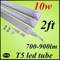 free shiping 1pcs  t5 led tube 60cm 10w led chip 85-265v 2FT  lighting bulb 700-900lm led fluorescent lamp  EMC&CE free shiping