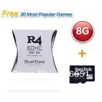 Free Shipping Real 8GB TF Memory card Micro SD SDHC + White Dual Core Adapter 3DS Flash Card