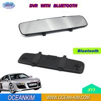 """2.5"""" X13 Rearview Mirror Camera DVR HD 1080P Car DVR Video Camera With Bluetooth+G-sensor+Original Novatek+Free Shipping"""