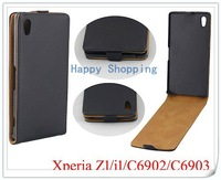 High Quality Leather Flip Skin Case Cover For Sony Xperia i1 C6902 C6903 Free Shipping DHL UPS HKPAM