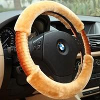 Winter car steering wheel cover car steering wheel cover to cover plush fleece winter handlebar steering wheel cover