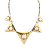 Min Order $10(mix order)Free Shipping! Wholesale Fashion Jewelry  Punk Retro Personality Triangle Gem Pendant Necklace 102446